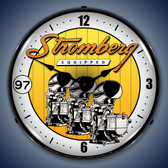 Vintage-Retro  Stromberg Carburetor Lighted Wall Clock