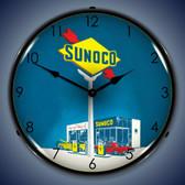 Vintage-Retro  Sunoco Gas Lighted Wall Clock