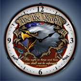 Vintage-Retro  We the People Lighted Wall Clock