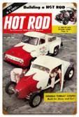 Vintage-Retro Hot Rod Magazine 19845 Metal-Tin Sign