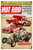 Vintage-Retro Hot Rod Magazine 25781 Metal-Tin Sign