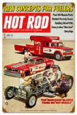 Vintage-Retro Hot Rod Magazine 25781 Metal-Tin Sign