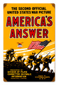 Vintage-Retro  Americans Answer Metal-Tin Sign