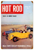 Vintage-Retro Hot Rod Magazine Drag Strips Metal-Tin Sign