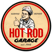 Vintage-Retro Hot Rod Magazine Garage Metal-Tin Sign