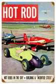 Vintage-Retro Hot Rods in the Sky Metal-Tin Sign