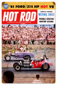Vintage-Retro Hot Rod Magazine National Drags Metal-Tin Sign