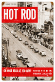 Vintage-Retro Hot Rod Magazine NYC Roadsters Metal-Tin Sign
