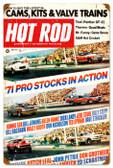 Vintage-Retro Hot Rod Magazine Pro Stocks Metal-Tin Sign