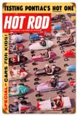 Vintage-Retro Hot Rod Magazine Quarter Midgets Metal-Tin Sign