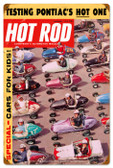 Vintage-Retro Hot Rod Magazine Quarter Midgets Metal-Tin Sign