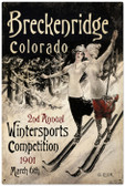 Vintage-Retro Ski Breckenridge Metal-Tin Sign LARGE