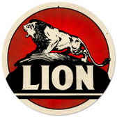 Vintage-Retro Lion Gasoline Metal-Tin Sign