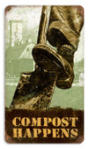 Vintage-Retro Compost Happens Metal-Tin Sign