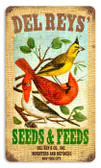 Vintage-Retro Del Rey's Seeds Metal-Tin Sign
