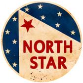 Vintage-Retro North Star Gasoline Metal-Tin Sign LARGE