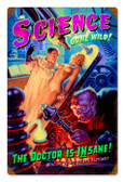 Vintage-Retro Science Gone Wild - Pin-Up Girl Metal Sign -