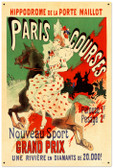 Vintage-Retro Paris Hippodrome Tin-Metal Sign LARGE