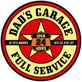 Vintage-Retro Dad's Garage Tin-Metal Sign LARGE