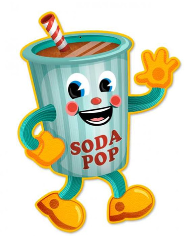 Vintage-Retro Soda Pop Tin-Metal Sign