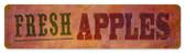 Vintage-Retro Fresh Apples Tin-Metal Sign