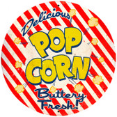 Vintage-Retro Popcorn Tin-Metal Sign LARGE