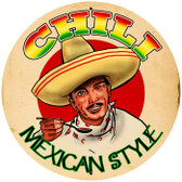 Vintage-Retro Chili Tin-Metal Sign LARGE