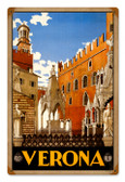 Vintage-Retro Verona Travel Tin-Metal Sign