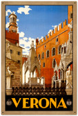 Vintage-Retro Verona Travel Tin-Metal Sign LARGE