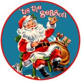 Vintage-Retro Tis The Season Tin-Metal Sign LARGE