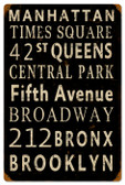 Vintage-Retro New York Streets Tin-Metal Sign