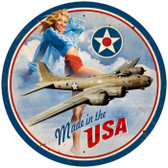 Vintage-Retro USA B17 Round Metal-Tin Sign