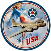Vintage-Retro USA B17 Round Metal-Tin Sign