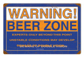 Vintage-Retro Beer Zone Metal-Tin Sign