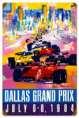 Vintage-Retro Dallas Grand Prix Metal-Tin Sign 16 x 24 Inches