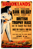 Vintage-Retro Brooklands Metal-Tin Sign 16 x 24 Inches