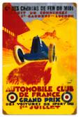Vintage-Retro France Grand Prix Metal-Tin Sign 16 x 24 Inches