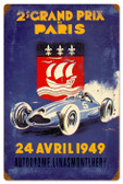 Vintage-Retro Paris Grand Prix Metal-Tin Sign 16 x 24 Inches