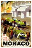 Vintage-Retro Monaco Races Metal-Tin Sign 16 x 24 Inches