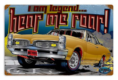 Vintage I am Legend Metal Sign