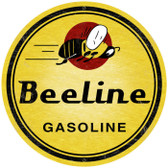 Vintage Bee Line Gasoline Super Large Metal Sign