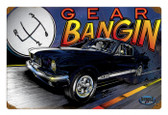 Retro Mustang Gear Tin Sign