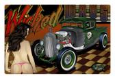 Vintage Rat Rod Wicked Ways Metal Sign