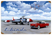Vintage T Birds 24 x 16 Inches Metal Sign