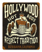 Vintage-Retro Hollywood Roadster Metal-Tin Sign