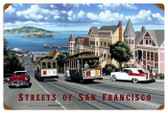 Retro San Francisco Streets Tin Sign 24 x 16 Inches