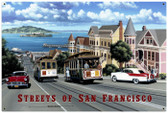 Retro San Francisco Streets Tin Sign 36 x 24 Inches