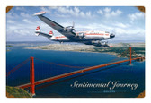 Retro Sentimental Journey Tin Sign 18 x 12 Inches