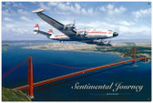 Vintage Sentimental Journey Tin Sign 36 x 24 Inches