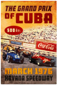 Retro Cuba Grand Prix Metal Sign 24 x 36 Inches